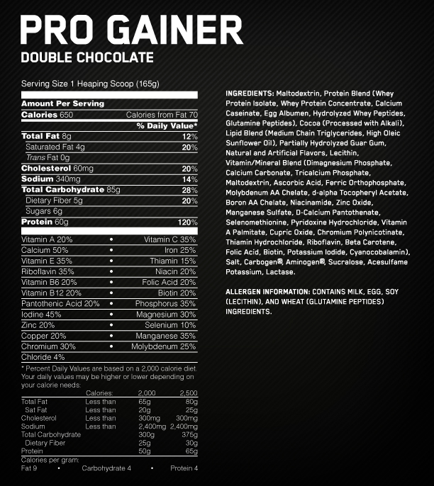 Optimum – Pro Complex Gainer 10lb (Z)