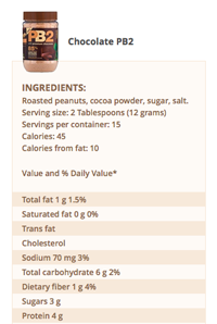 PB2 – Powdered Peanut Butter – 184g – Chocolate (Z)