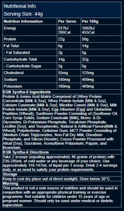BSN-Syntha-6-2.25kg-5lb-Nutrition