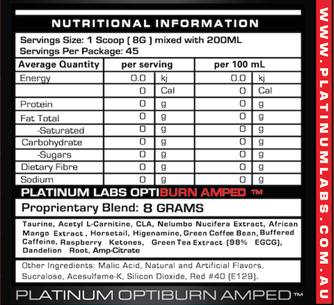 Platinum Labs - Optiburn Amped - 30 servings