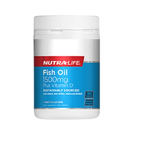 NutraLife - Fish Oil 1500mg + Vitamin D - 180 capsules