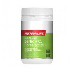 NutraLife - Garlic + C, Horseradish - 100 capsules