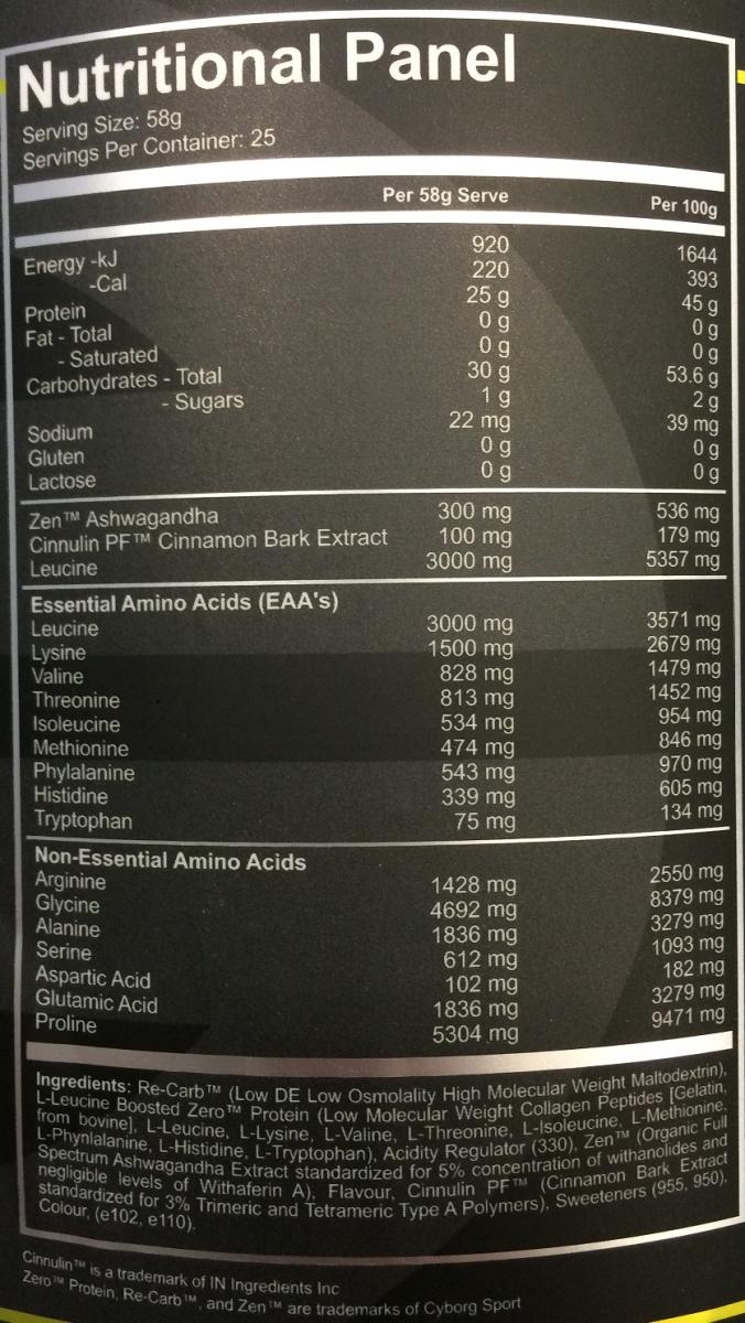 Cyborg-Reboot-1.45kg-25servings-NUTRITION