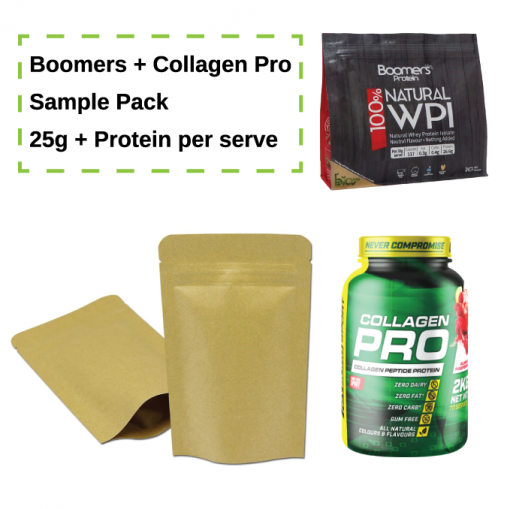 25g Protein Sample Pack - Boomers WPI and Cyborg Sports Collagen Pro