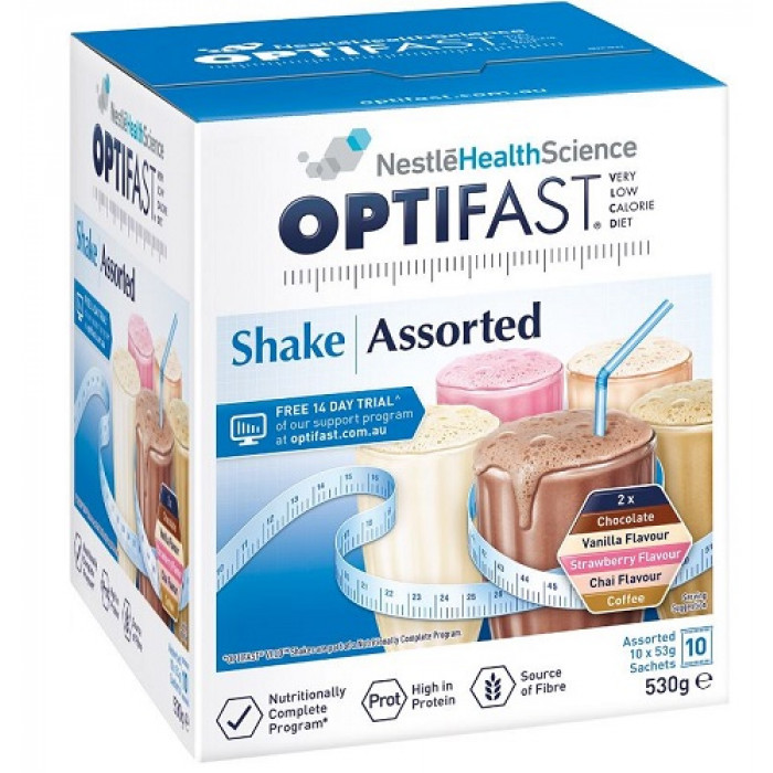 Vlcd Nestle Optifast Shakes 10pack Assorted Variety