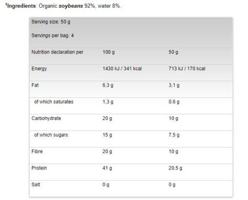 So Good - Protein Pasta nutrition panel