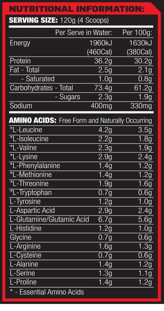 Max's - Clean Mass 2.7kg (6lb) | Cost Price Supplements Australia