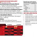 Maxs Lab Series – Beta Pump Red Alert 300g – Nutritional Panel
