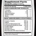 American Metabolix – Havok 30servings Nutritional Panel