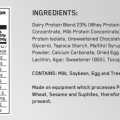 Optimum – Protein Crunch Bar Nutritional Panel