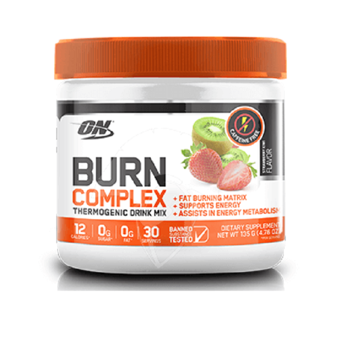 optimum nutrition burn complex no stim fat burner