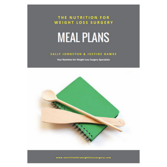 Nutrition for weight loss surgery meal plans book by sally johnston