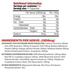 nutritional panel for max's lab series the gear jackd 120 capsules