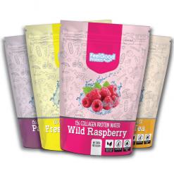 Fresh Lemonade, Wild Raspberry, Peach Ice Tea, Passionfruit flavour of Feel Good Protein Water 40 scoops