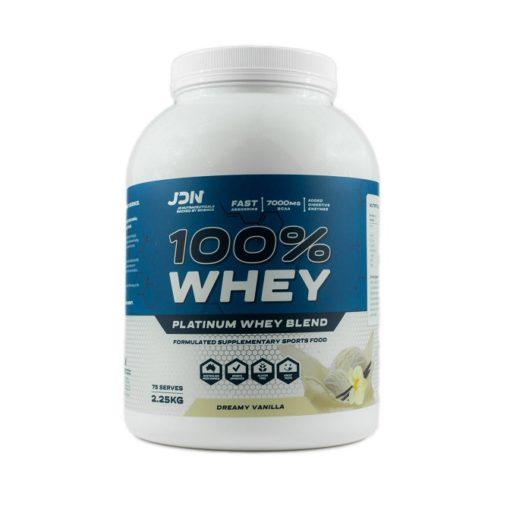 JD Nutraceuticals - 100% Whey 2.25kg tub vanilla flavour