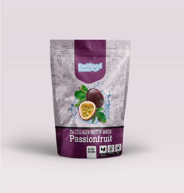Feel Good Water New flavour passionfruit 40 scoops