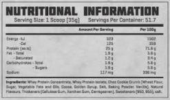 Gorilla Warfare - Jacked Protein Nutritional Panel
