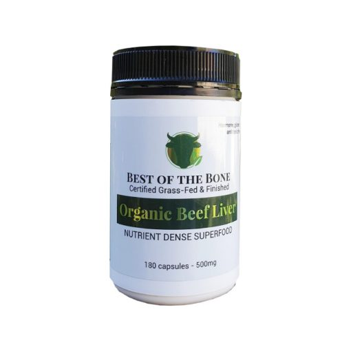 Organic Beef Liver 180 Capsules 500mg by Best of the Bone