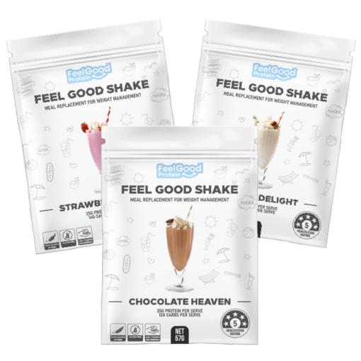 3 Sample Sachets of Feel Good Shake by Feel Good Protein
